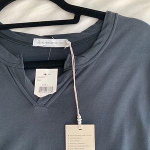 Organic Soft Pima Cotton Black Tshirt BNWT V-Neck